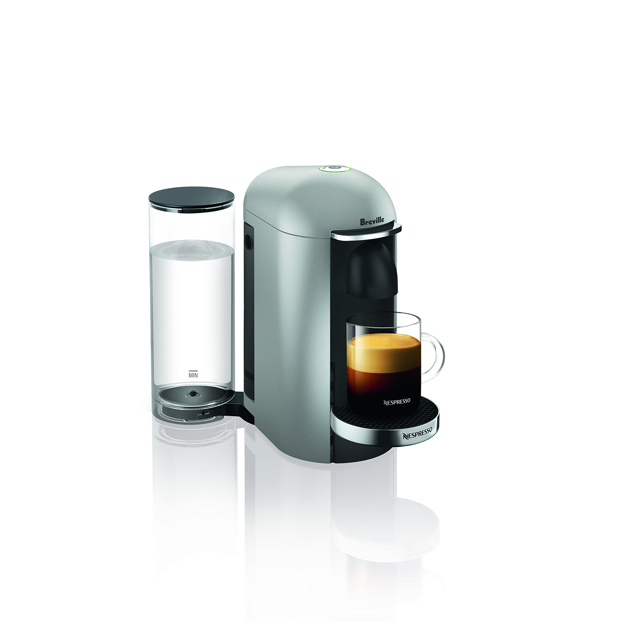 Nespresso VertuoPlus Deluxe Coffee and Espresso Maker by Breville, Silver