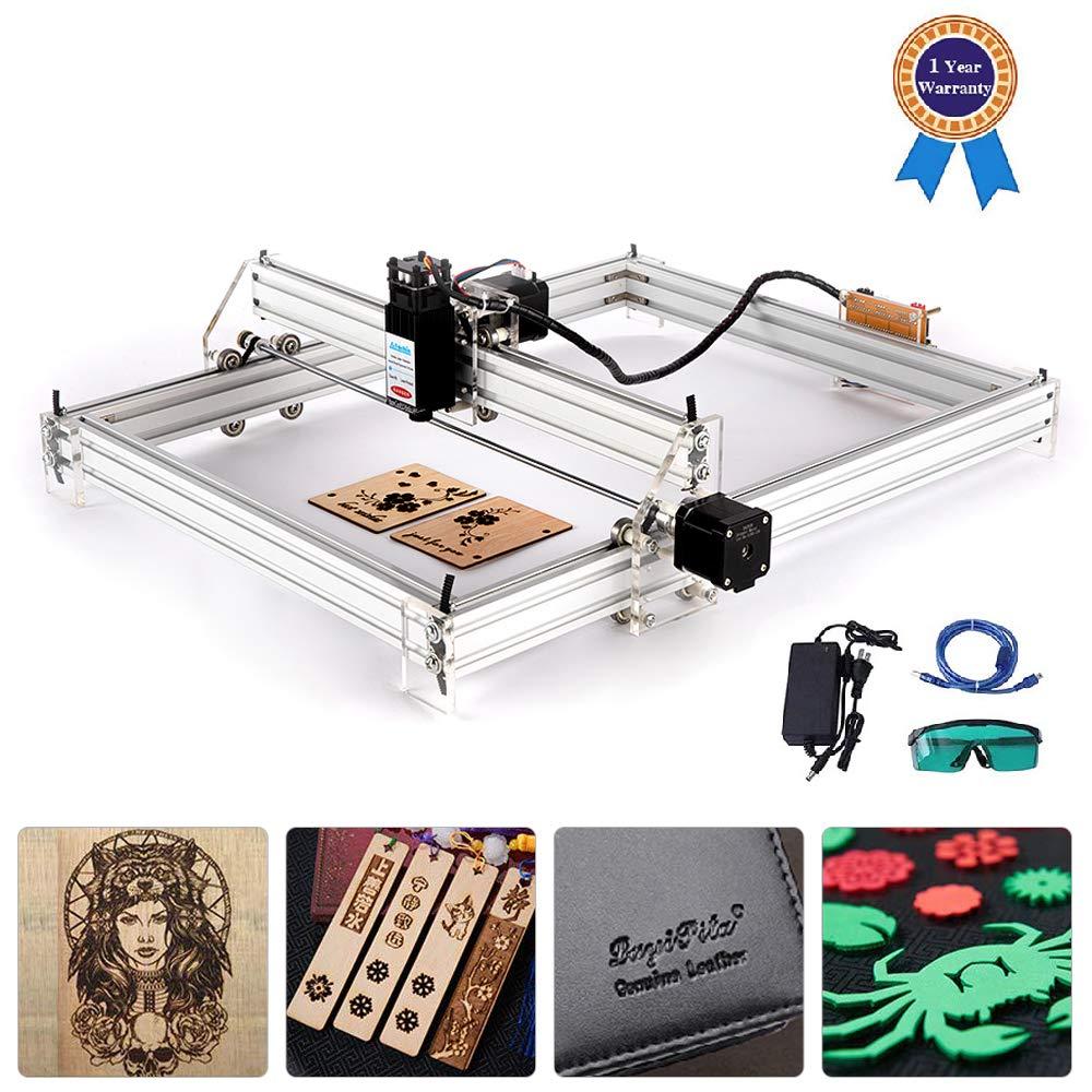 Logotipo de Impresora DIY Pl/ástico de Madera 65x50 cm TOPQSC CNC Enrutador M/áquina de Corte de Grabado de Madera Impresora de Escritorio de 2 Ejes para Cuero M/áquina de grabado l/áser de 15 W