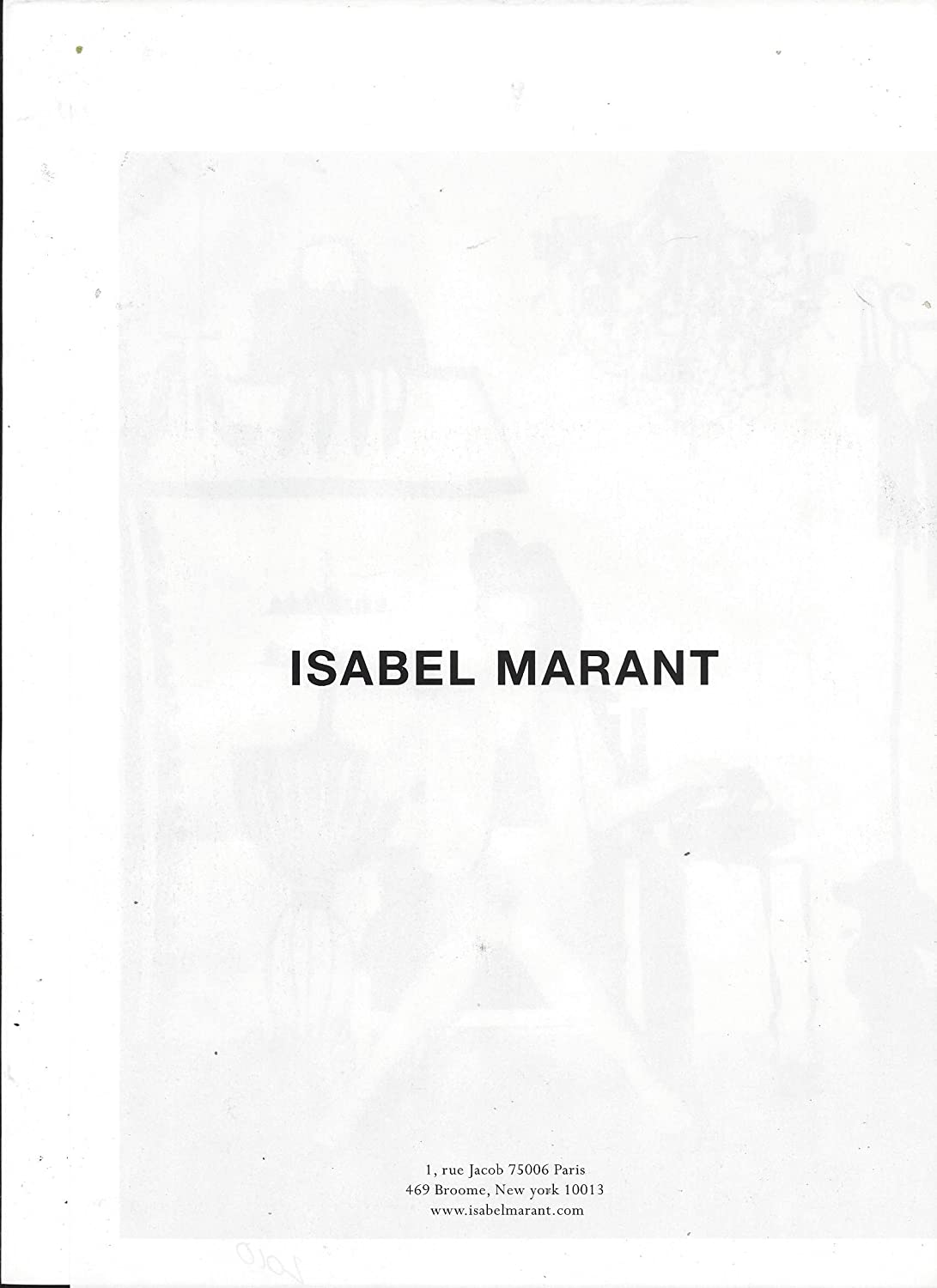 0e9fc0bcb4 **PRINT AD** With Kate Moss For 2010 Isabel Marant at Amazon's  Entertainment Collectibles Store