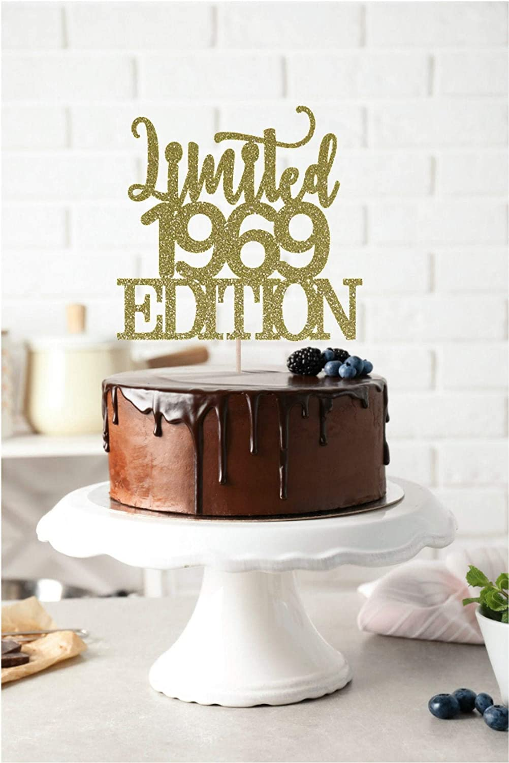 Stupendous Limited 1969 Edition Cake Topper Birth Year Cake Topper 50Th Personalised Birthday Cards Vishlily Jamesorg