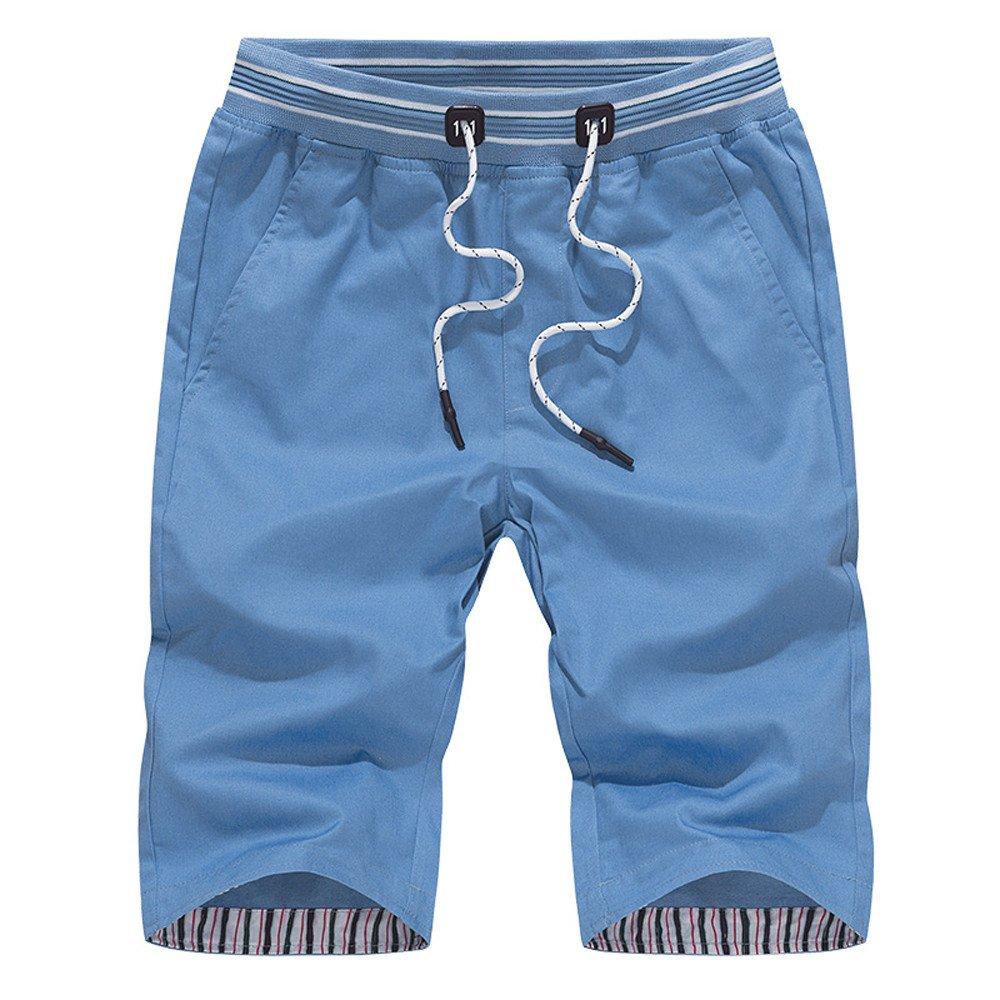 WEUIE Hot Sale Mens Shorts Swim Trunks Quick Sport Beach Surfing Swimming Water Pants (XL,Blue