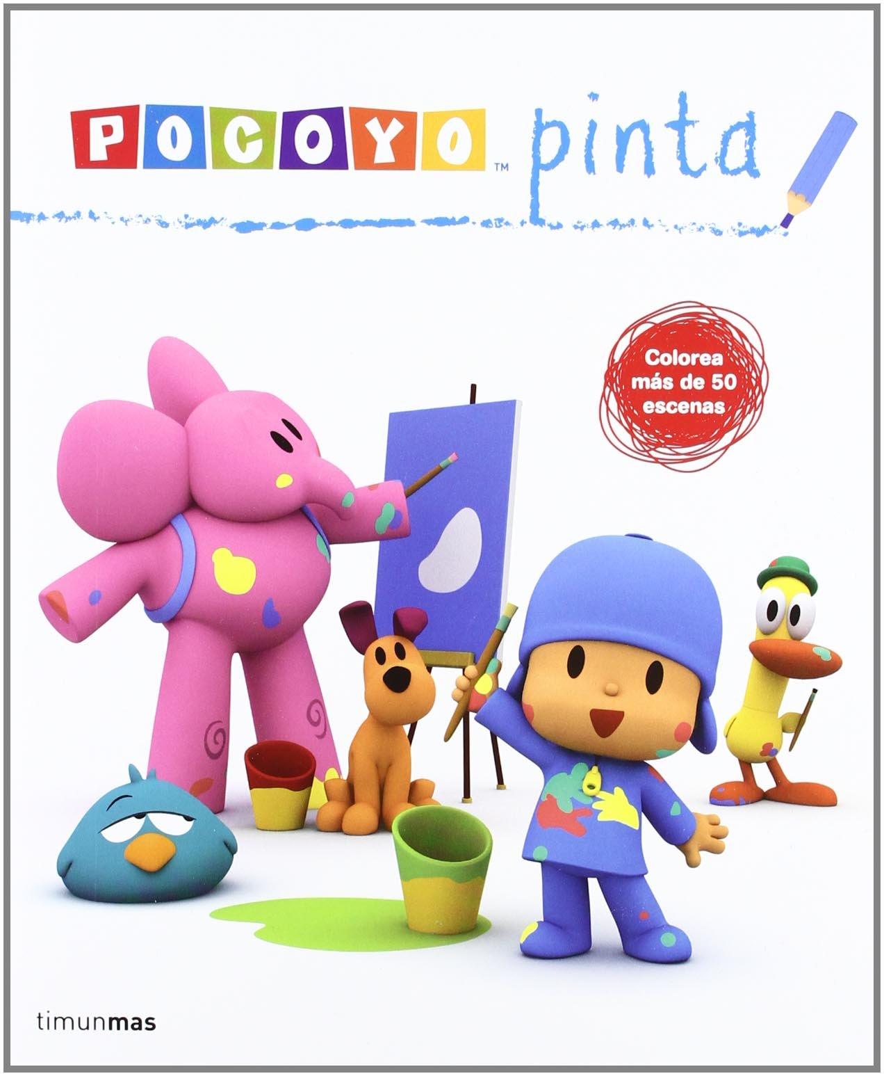 Pocoyó pinta: Libro de actividades Cuentos y actividades: Amazon.es ...