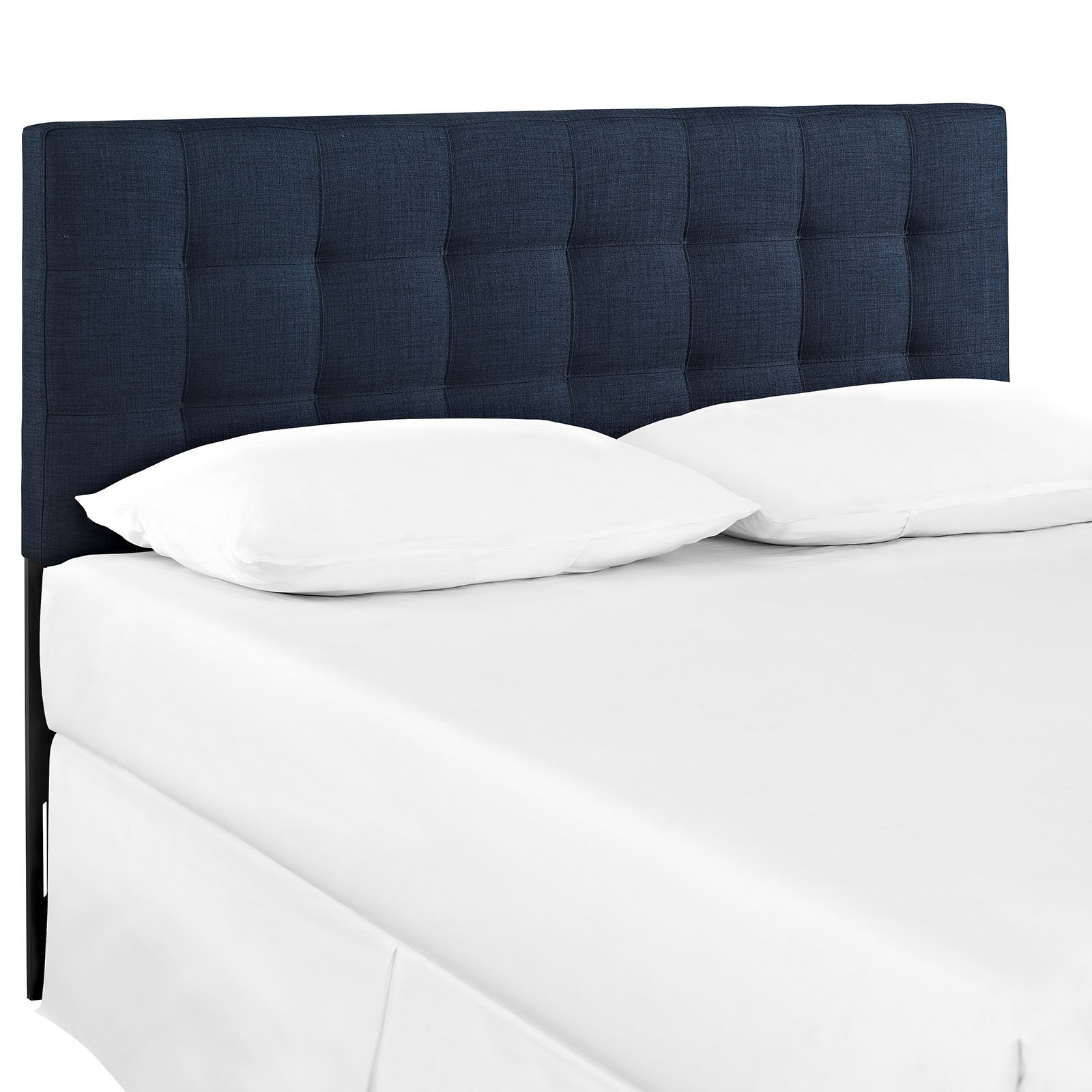 Modway Lily Upholstered Tufted Fabric Headboard Queen Size In Navy