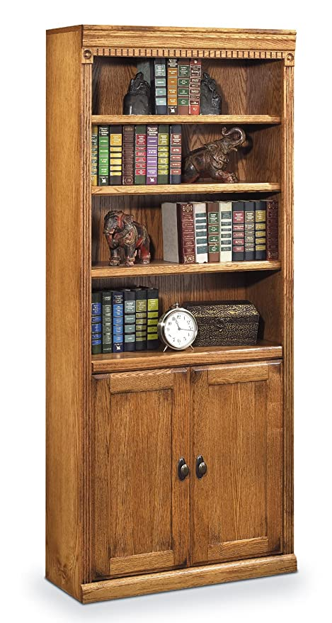 Kathy Ireland HOME By MARTIN Martin Furniture Huntington Oxford Library  Bookcase With Lower Doors, Wheat