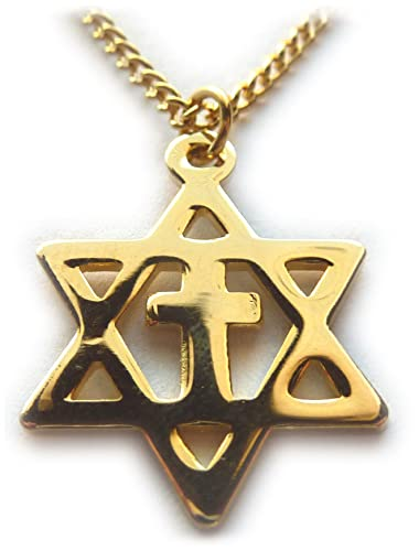 Amazon Messianic Gold Star Of David Jews For Jesus Christians