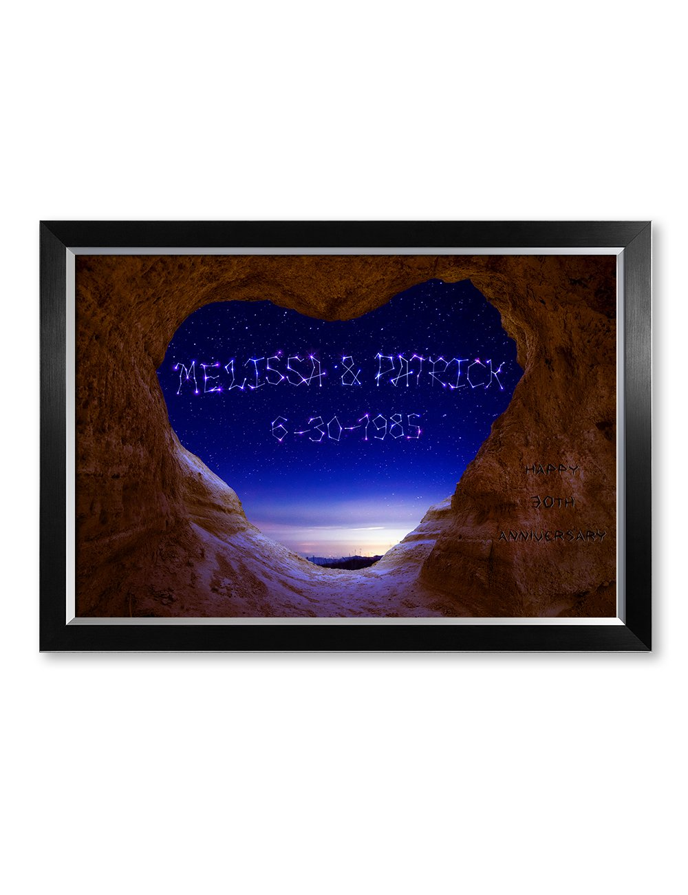 IPIC - ''Written in The Stars Personalized Constellation Artwork for Romantic Anniversary and Wedding Gifts; Picture Size: 30x20, Framed Size: 33x23x1.25