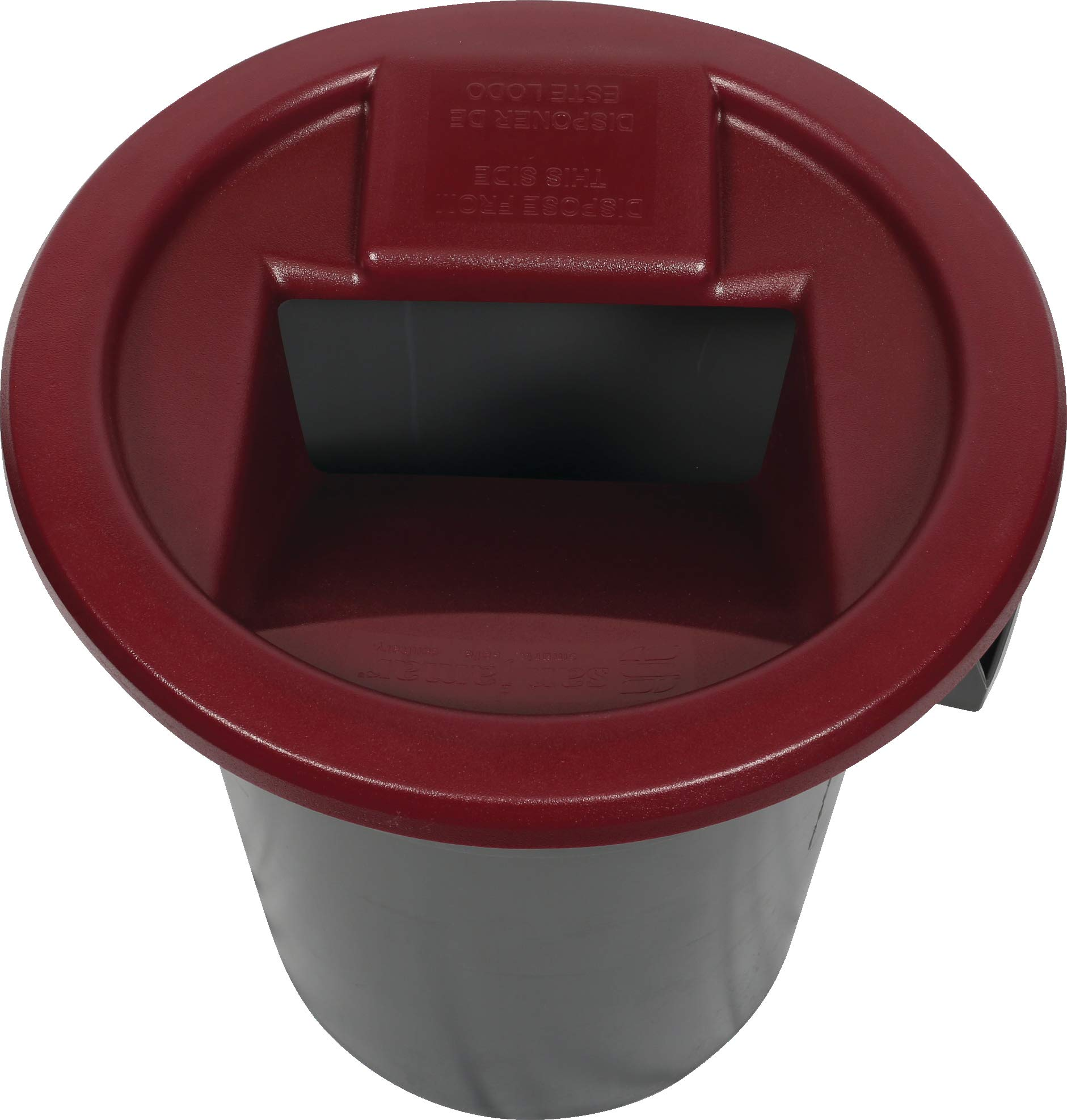 San Jamar KA3244 Katchall Rugged Round Retriever for 32 and 44 Gallon Waste Cans, Red