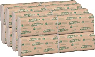 product image for Marcal Pro Multi-Fold Paper Towels, 100% Recycled, 1-Ply, Natural Color Hand Towels, 250 Per Pack, 16 Packs per Case for 4000 Total Green Seal Certified Towels P200N