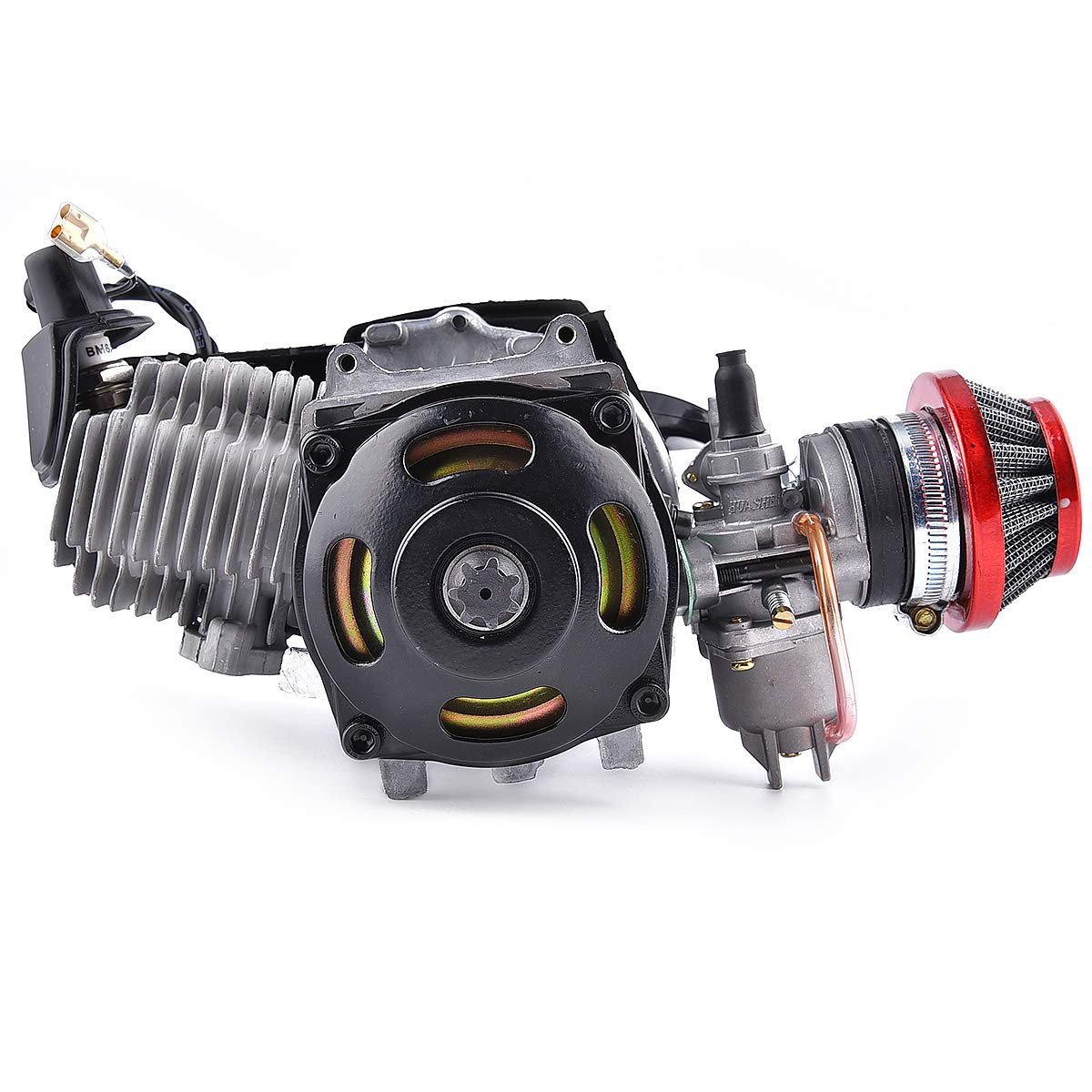 Air Filter 47CC Motor Pocket Mini Bike Scooter ATV 7T 25H Chain 40MM Bore Engine 2-Stroke Handle Bar Throttle Cable