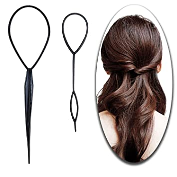 Amazon Com Hair Styling Hairstyling Set Of 2pcs Topsy Tail