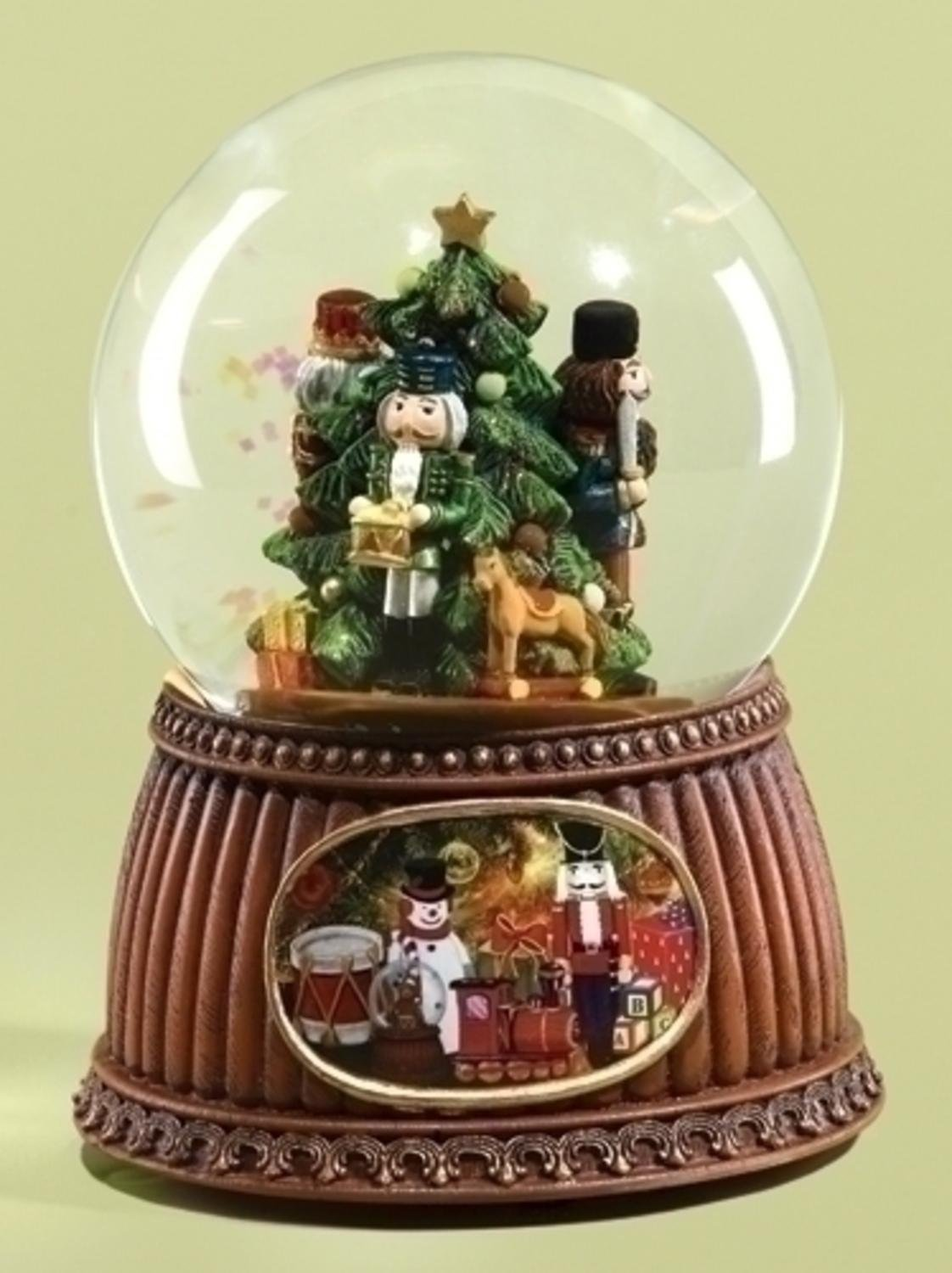 Roman 5.5'' Musical Nutcracker Holiday Scene Christmas Snow Globe Glitterdome