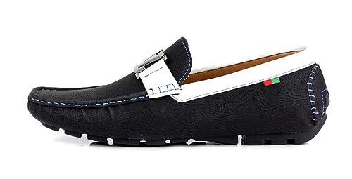 Zapatos Para Hombre Informales Conducción Diseñador Mocasines Mocasines Sin Cordones Moda Italia Estilo negro GB: Amazon.es: Zapatos y complementos