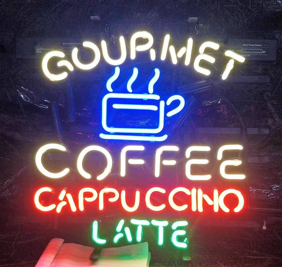 Queen Sense 24''x20'' Gourmet Coffee Cappuccino LatteNeon Sign (VariousSizes) Beer Bar Pub Man Cave Business Glass Lamp Light DC396