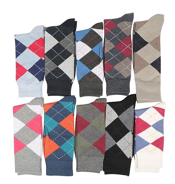 Fine Fit Mens Designer Dress Socks Argyle Pattern Size 10-13 (10 ...