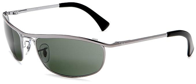 0cc904a553604 Gafas de Sol Ray-Ban RB3119 OLYMPIAN GUNMETAL - CRYSTAL GREEN  Amazon.es   Ropa y accesorios