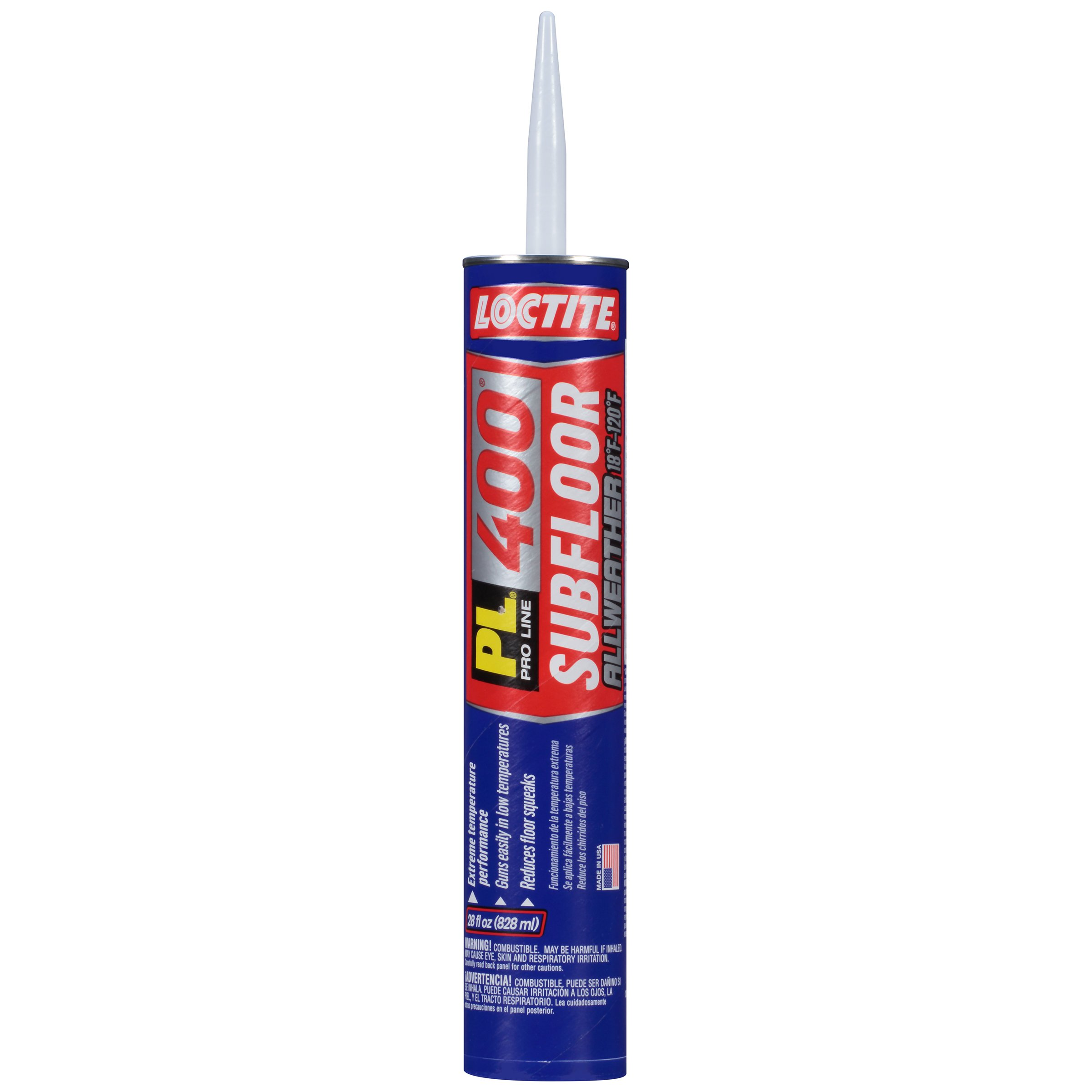 Loctite PL 400 Subfloor All Weather Construction Adhesive, 28 Ounce Cartridge, Tan, 12-Pack (2136221-12)