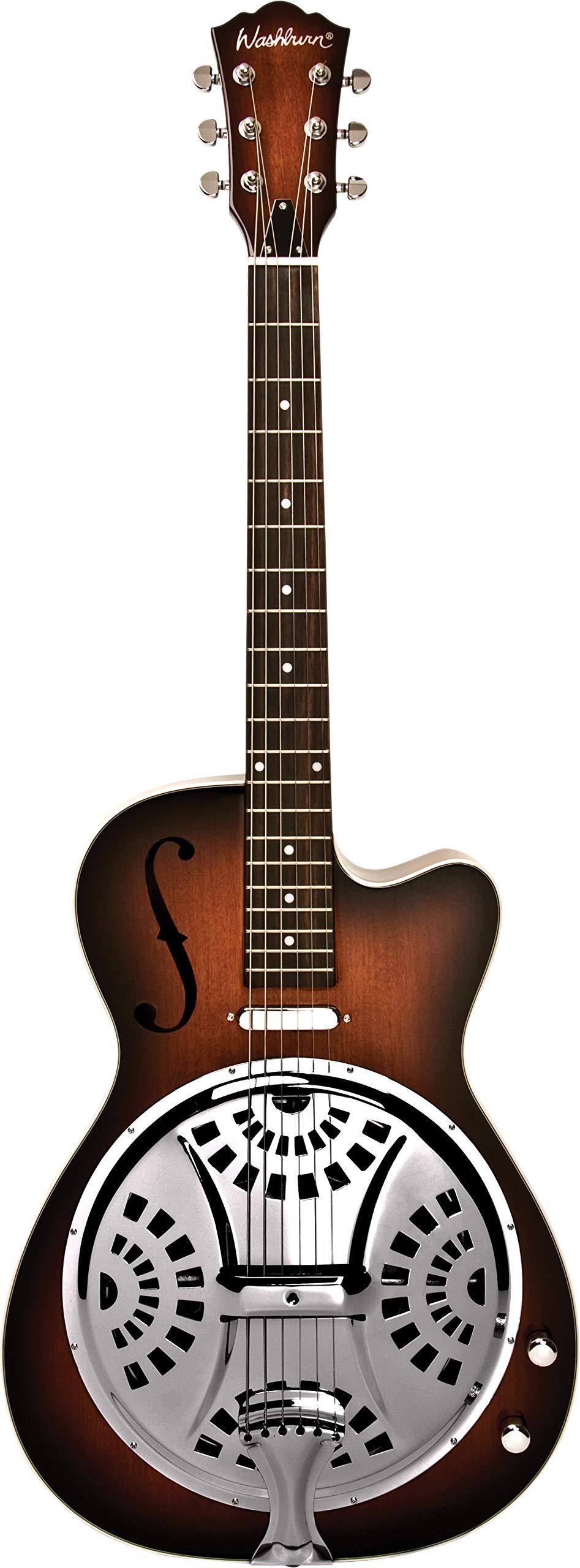 Washburn 6 String Resonator Guitar, Right (R15RCE-A) by Washburn