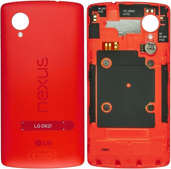 Original LG Batería Tapa Red/rojo para LG D821 Nexus 5 – con ...