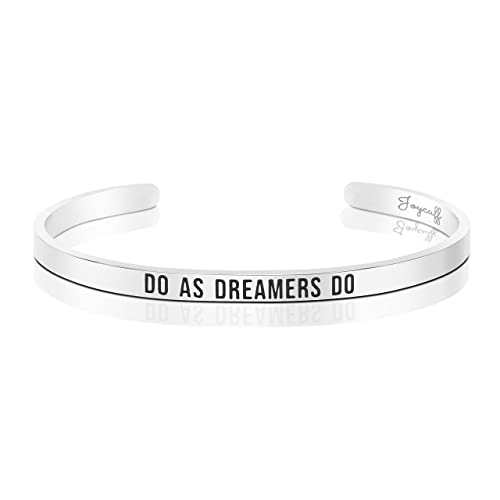 Amazon Joycuff 21st Birthday Gifts For Her Inspirational Jewelry Mantra Cuff Bracelet Do As Dreamers