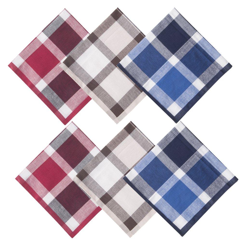 EcoHanky Mens Handkerchiefs 100/% Cotton Classic Soft Size 17