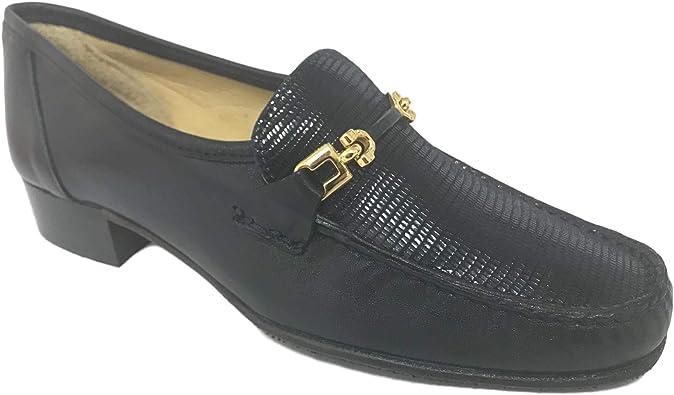 HB Shoes Mocasines para Mujer de Piel de Ante con Borla de tacón ...