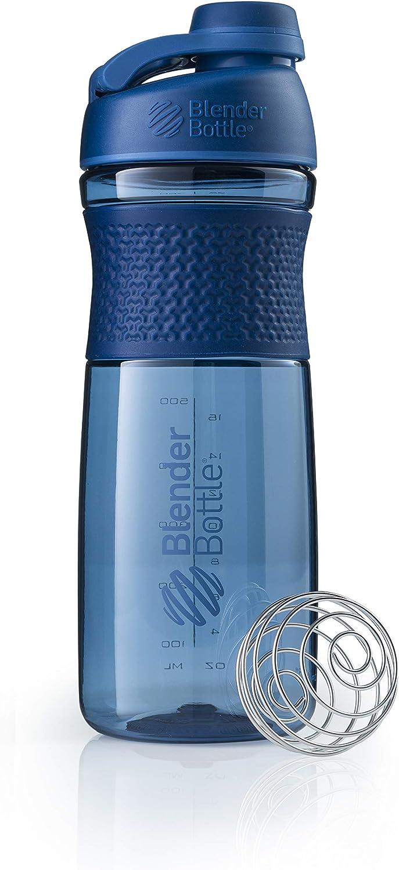 BlenderBottle SportMixer Twist Cap Tritan Grip Shaker Bottle, 28-Ounce, Navy