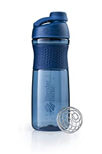 BlenderBottle SportMixer Twist Cap Tritan Grip Shaker Bottle, 28-Ounce, Navy