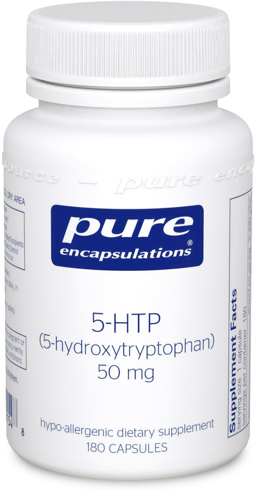 Pure Encapsulations - 5-HTP (5-Hydroxytryptophan) 50 mg - Hypoallergenic Dietary Supplement to Promote Serotonin Synthesis* - 180 Capsules