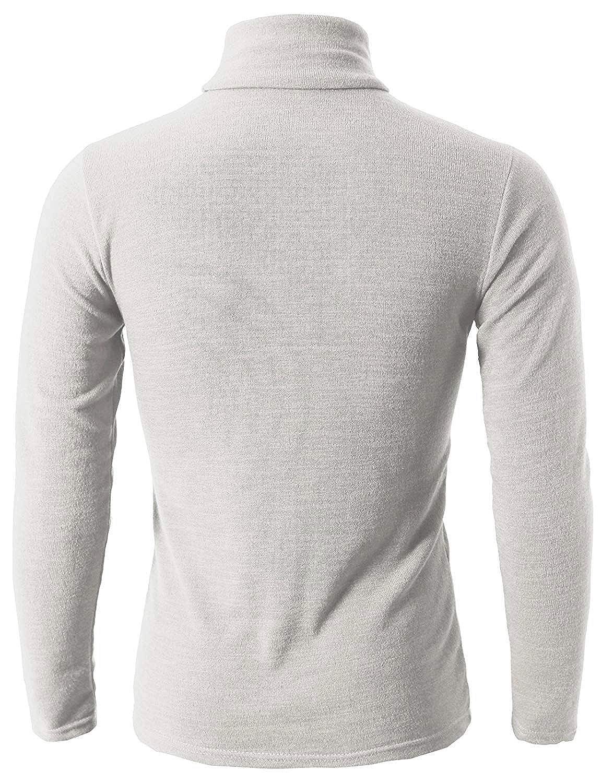 dd0c0e295c39 Homme T-Shirt à Manches Longues Top Tee Pull Col Roulé Haut Slim Fit  Confort T-Shirts  Amazon.fr  Vêtements et accessoires