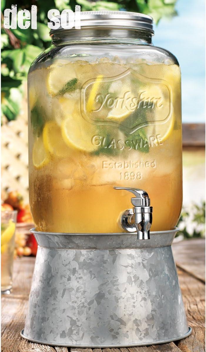 Home Essentials Del Sol 2 Gallon Drink Dispenser w/Steel Base