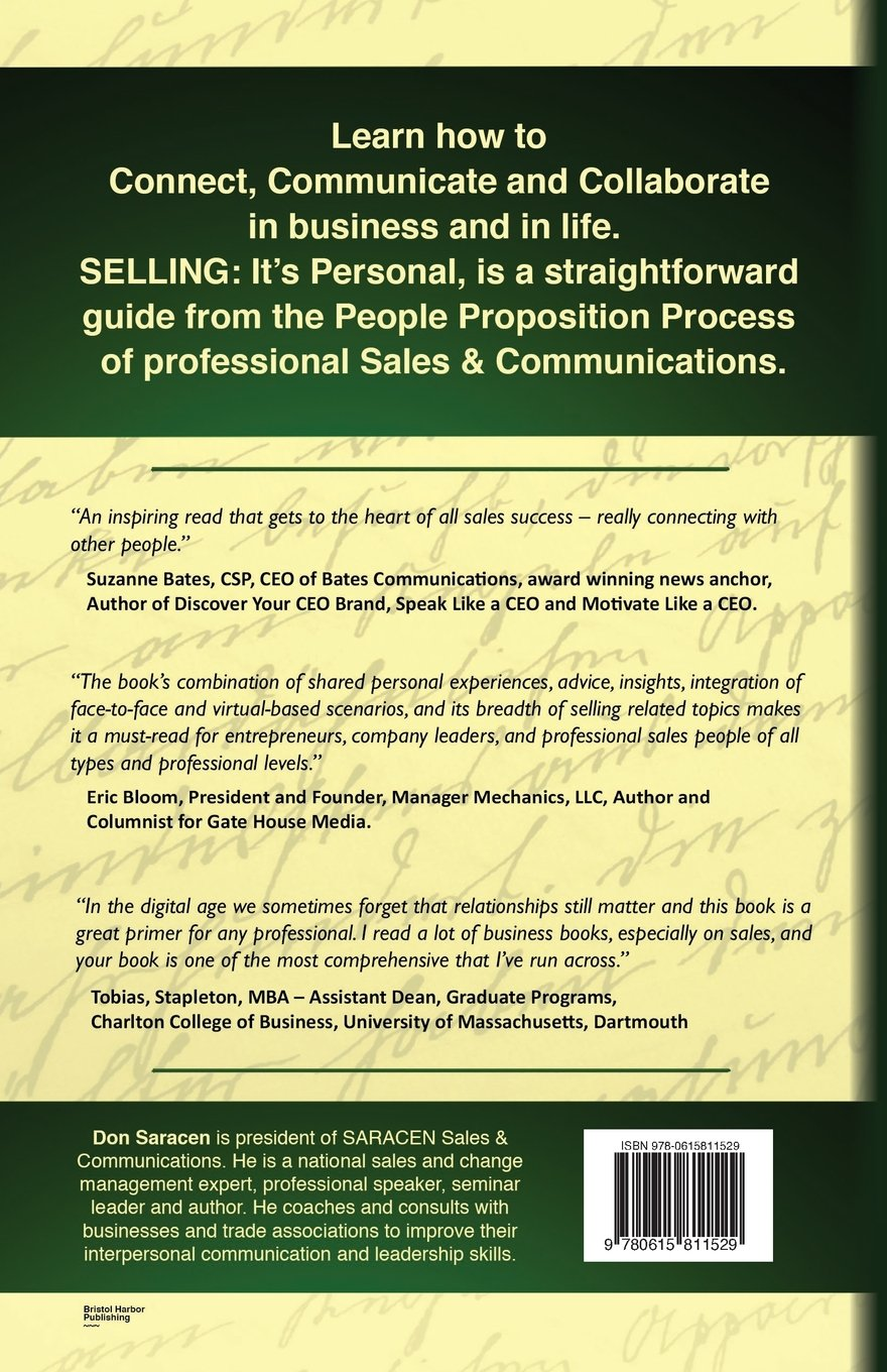 Selling: Its Personal - 49 Tips to Outsell the Competition