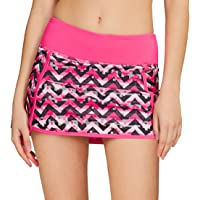 Cityoung Women's Athletic Gym Tennis Skirt with Shorts Running Skort