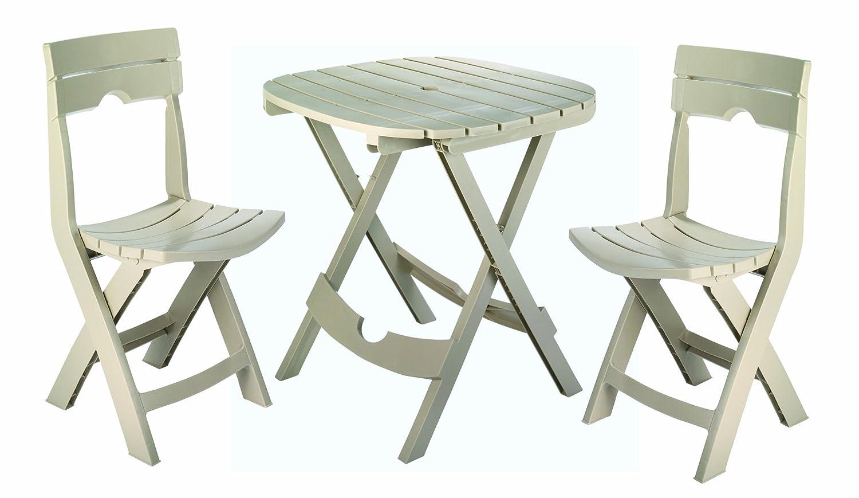 folding patio furniture set. amazon.com: adams manufacturing 8590-01-3731 quik-fold cafe bistro set, sage: garden \u0026 outdoor folding patio furniture set