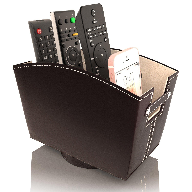 Remote Control Holder Caddy Bedside Organizer Nightstand Storage
