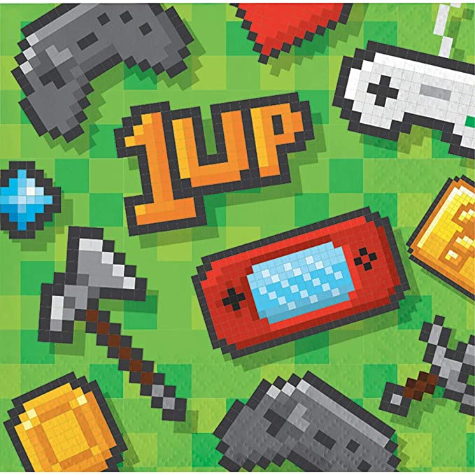 Amazon.com: Loulouben Gaming Video Game Birthday Party ...
