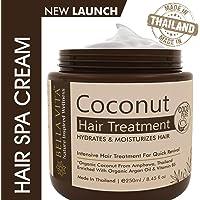 Bella Vita Organic Coconut Argan Oil Hair Spa Cream Mask, For Dry & Damaged Hair, Paraben Free (250ml)