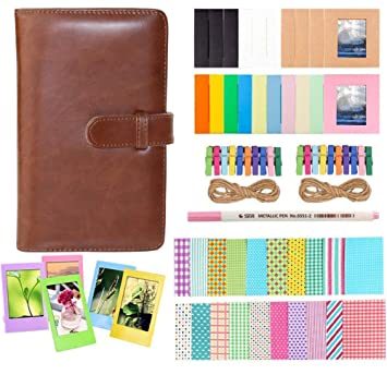 Anter Photo Album Accesorios para Fujifilm Instax Mini Camera, HP Sprocket, Polaroid Zip, Snap, Snap Touch Impresora Films con Film Stickers, Album & ...