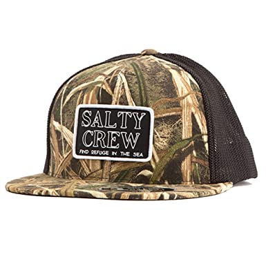 cheap for discount 5622e 7f833 Salty Crew Men s Stacked Trucker Hat, Grass Blades, One Size at Amazon  Men s Clothing store