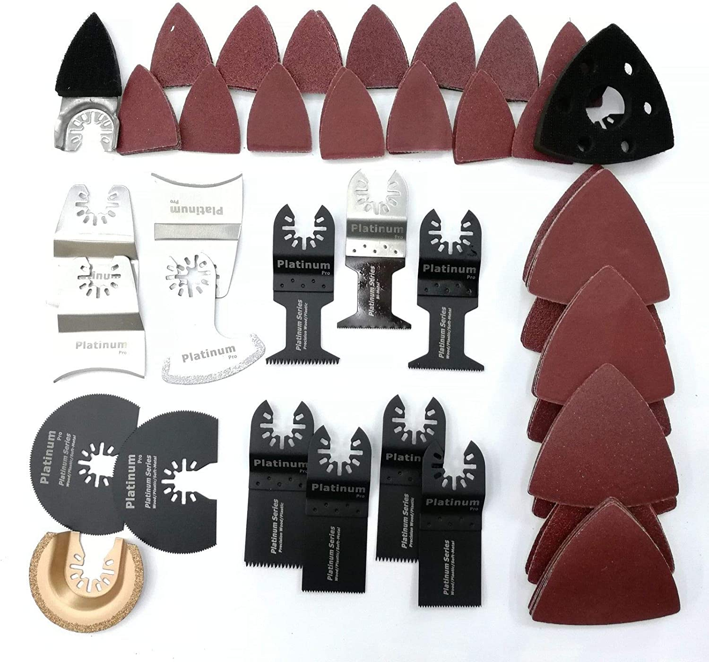 100x Oscillating Multi Tool Saw Blades Sanding Paper Grinding For  Makita