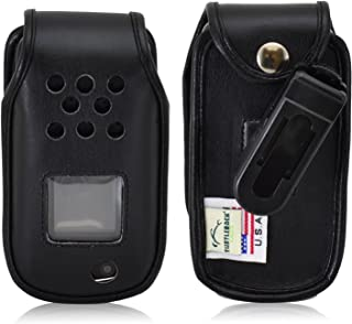product image for Turtleback Fitted Case Made for Samsung Rugby 4 Flip Phone Black Leather Rotating Removable Belt Clip Made in USA