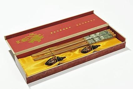 Abacus Asiatica: Paradiso Qing Ming: Precioso Set de Palillos asiáticos de bambú en una