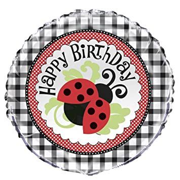 1 Feliz cumpleaños - Mariquitas Ladybug/Ladybird - Foil ...