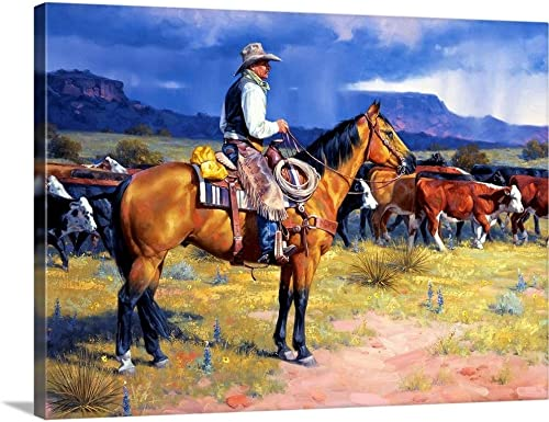 Great American Cowboy Canvas Wall Art Print