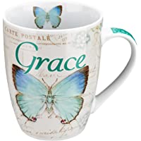 Butterfly Christian Mugs, Blessed, Believe, and Grace