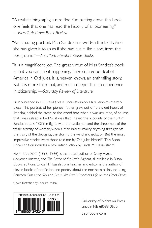 Old Jules: Mari Sandoz, Linda M Hasselstrom: 9780803293243: Amazon:  Books