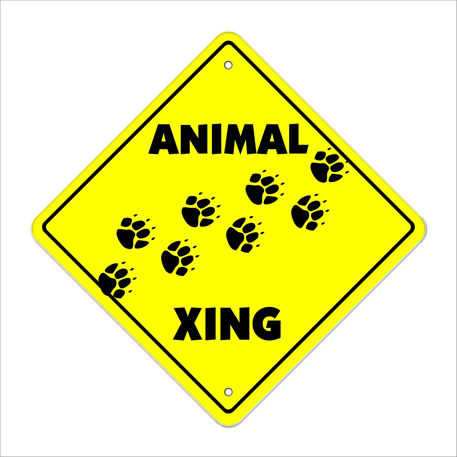 CAT CROSSING Sign   16 1//2 by 16 1//2 NEW   cats decor signs  wildlife animals