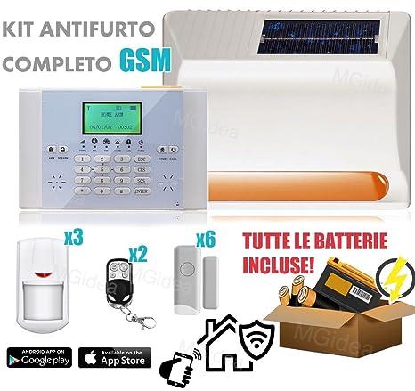 Kit Alarma Antirrobo gsm inalámbrica Sirena Solar sensores ...