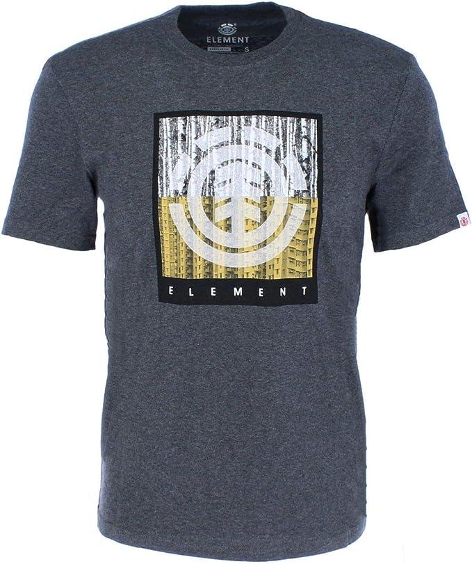 Element - Camiseta - Hombre - L - Gris: Amazon.es: Ropa y ...