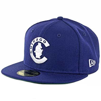487ec5dd Amazon.com : New Era 59Fifty Chicago Cubs 1911 Cooperstown Fitted Hat (Dark  Royal) Cap : Clothing