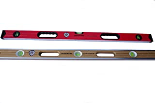 Messtoleranz: 0,3mm//m Aluwasserwaage Aluminiumwasserwaage f/ür Profi-Handwerker DEWEPRO Wasserwaage Aluminium eloxiert L/änge: 150cm 1,5m mit 4 Libellen